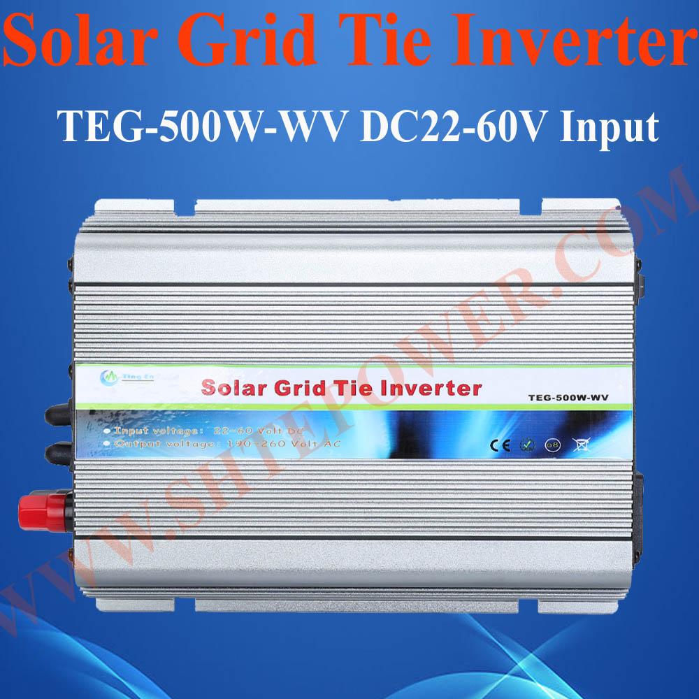 500W Grid Tie Inverter with Wide Voltage, DC 22V to 60V, AC 120V Solar Inverter inverter stackable high quality dc 12v 24v input to ac output standard voltage home use on grid tie solar mini inverter 500w