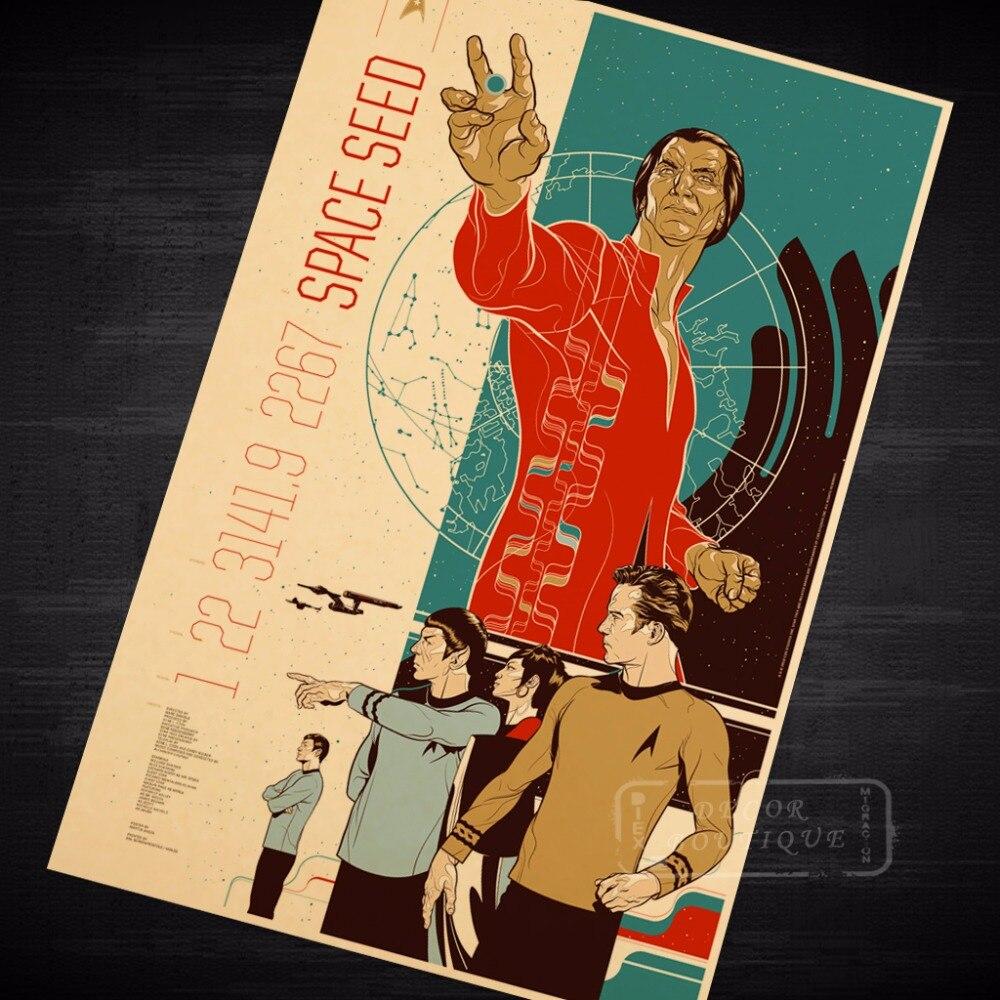 Space Seed Star Trek Vintage Sci Fi Movie Poster Retro Canvas ...