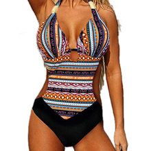 Sexy Bikinis Women Bohemia Swimwear Summer Brazilian Bikini Set Bohemia High Waist Swimwear Women Swimsuit Beach Bathing Suit