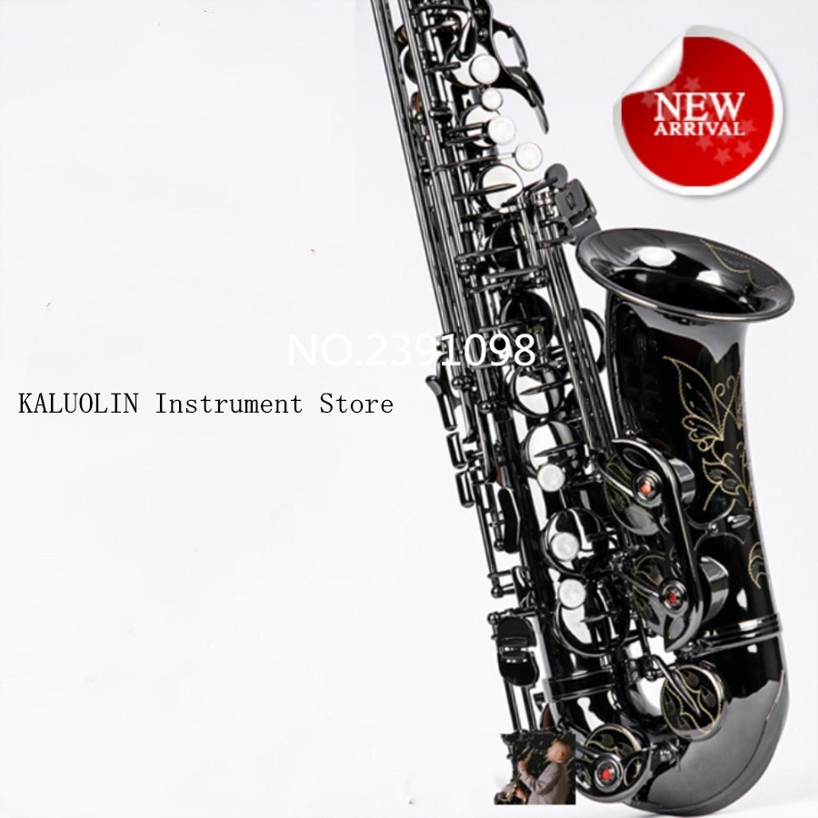 KALUOLIN Instrument France New High Quality Saxophone Alto 54 Alto saxophone E-flat Saxophone Musical Instruments Professional new arrival screw nut plug saxophone trumpet erhu musical woodwind instrument microphone prevent mechanical noise for helicopter