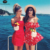 Impresión de Primavera y Verano de Manga corta Del Hombro Rojo de Las Colmenas Florales de Las Mujeres Plisadas Mamelucos Playsuits Buzos Trajes Nuevo 2017