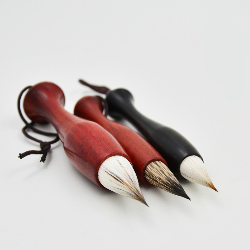 Ancient Chinese Calligraphy Brush Pen Luxurious Rabbit Hair Chicken Spacing Pen Copy Scriptures Chinese Writing Painting Brushes