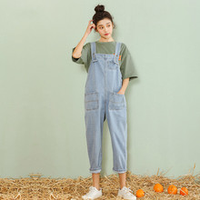 Summer Autumn Rompers Womens Denim Jumpsuits Vintage Sleeveless Backless Jeans Casual Loose Solid Overalls Strapless Paysuits