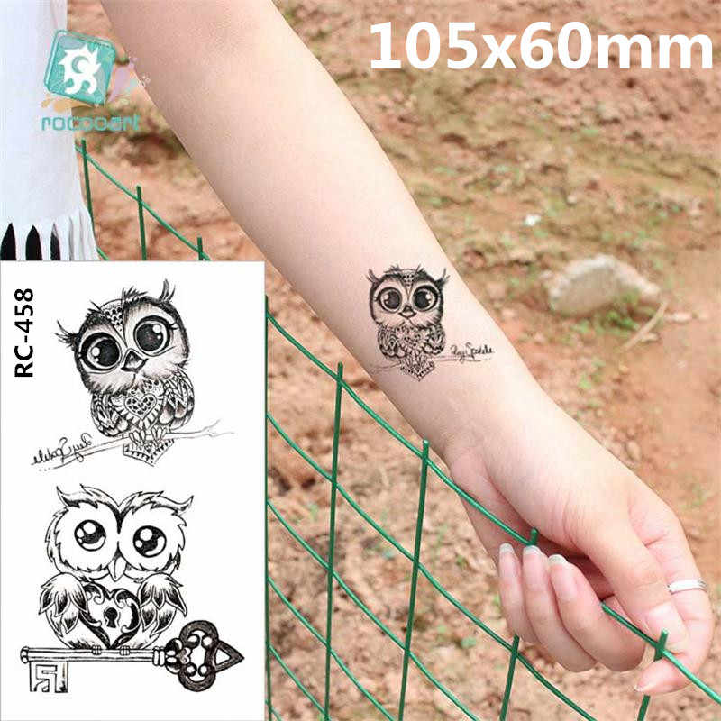 Body Art waterproof temporary tattoos paper women simple 3d CAT design small tattoo sticker Wholesale RC-458