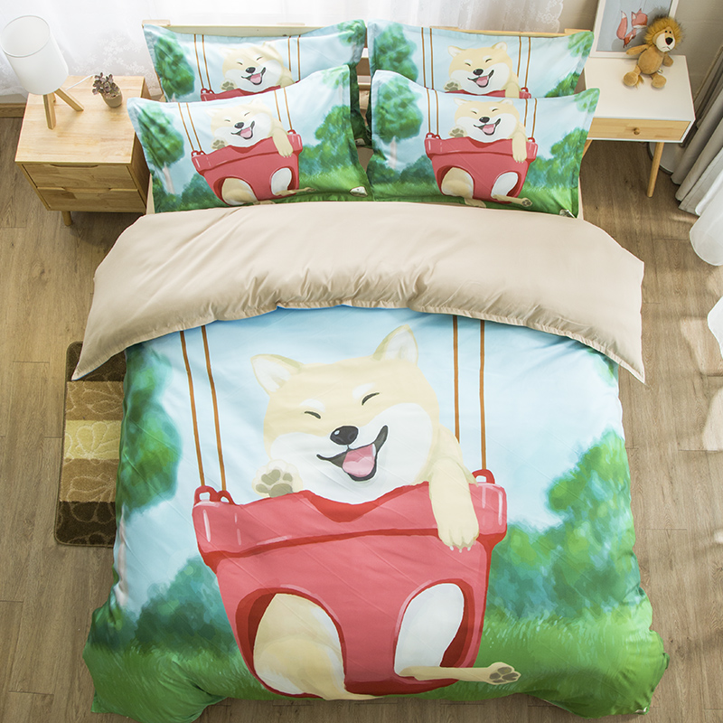 3D Shiba Inu Bedding Set Dog Twin Full queen king Bedclothes Pet Dog Double quilt cover Kit Animal cartoon cute duvet cover sets3D Shiba Inu Bedding Set Dog Twin Full queen king Bedclothes Pet Dog Double quilt cover Kit Animal cartoon cute duvet cover sets