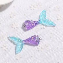 Necklace-Pendant Keychain Charms Flat-Back Resin for Diy-Decoration 20pcs Shiny 20--43mm