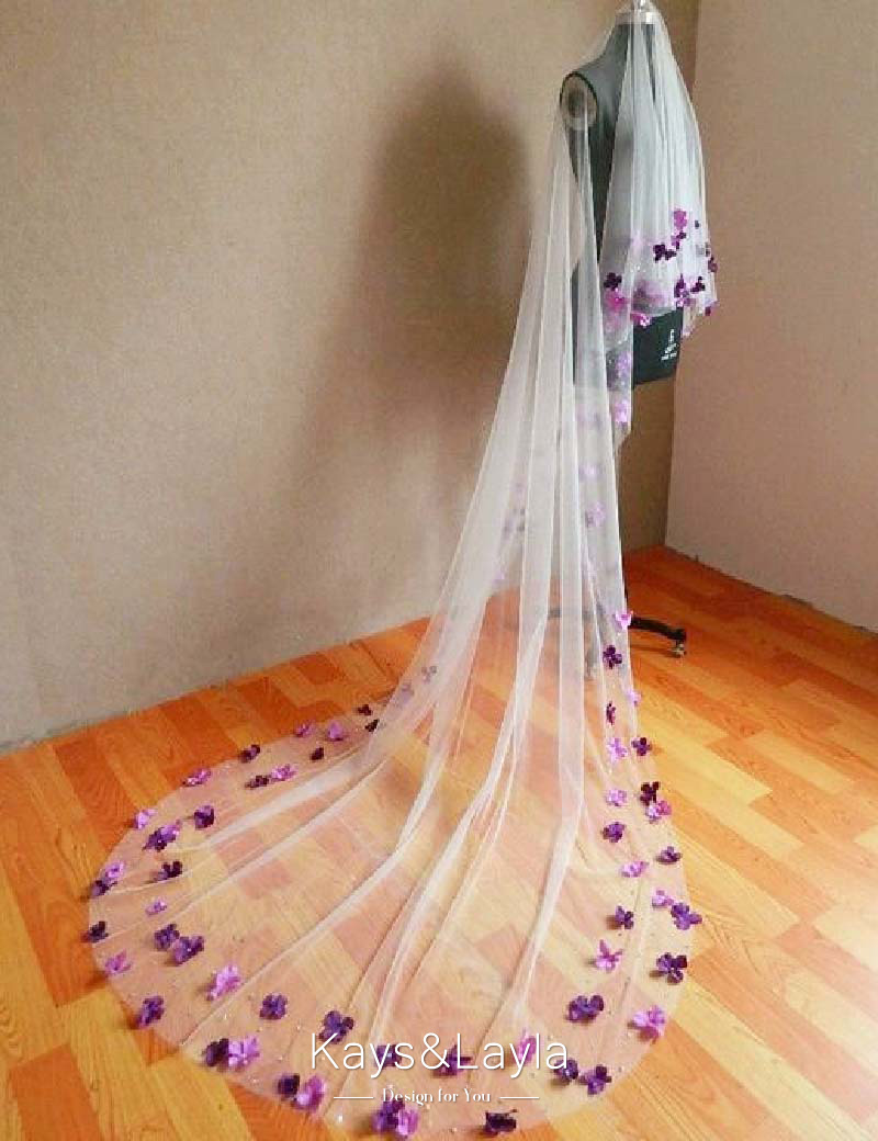 Purple Wedding Veil Promotion Shop For Promotional Purple