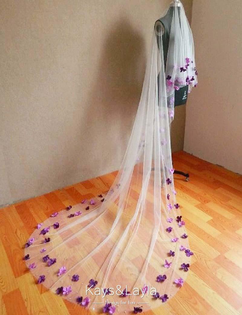 Purple Wedding Veil Promotion Shop For Promotional Purple