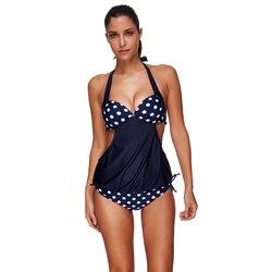 Ls1312 split fusionné maillots de bain à armatures bikini tops grande taille maillots de bain bowknot intérieur maillot de bain de femmes 2017 maios plage seafolly