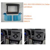 Car Radio Fascia for HONDA Civic Sedan (Left Wheel) Fascia Panel Stereo Surround Adaptor Radio Trim 2DIN Kit ZWNAV 11 174