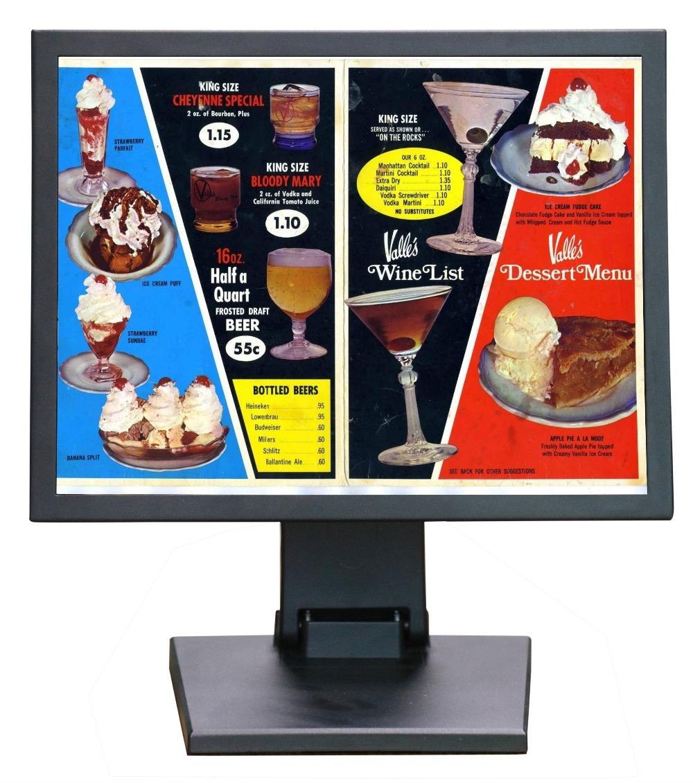 stand alone lcd monitor 17 inch hdmi input lcd monitor 1280*1024 lcd monitor stand with AV BNC VGA HDMI USB input