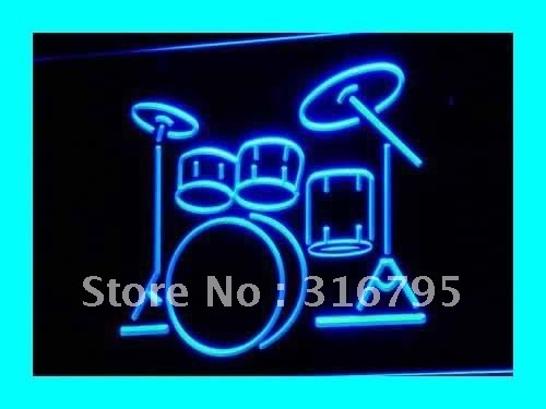 i230 My Band Room Drum Music Instruments Light signs On/Off Switch 20+ Colors 5 Sizes