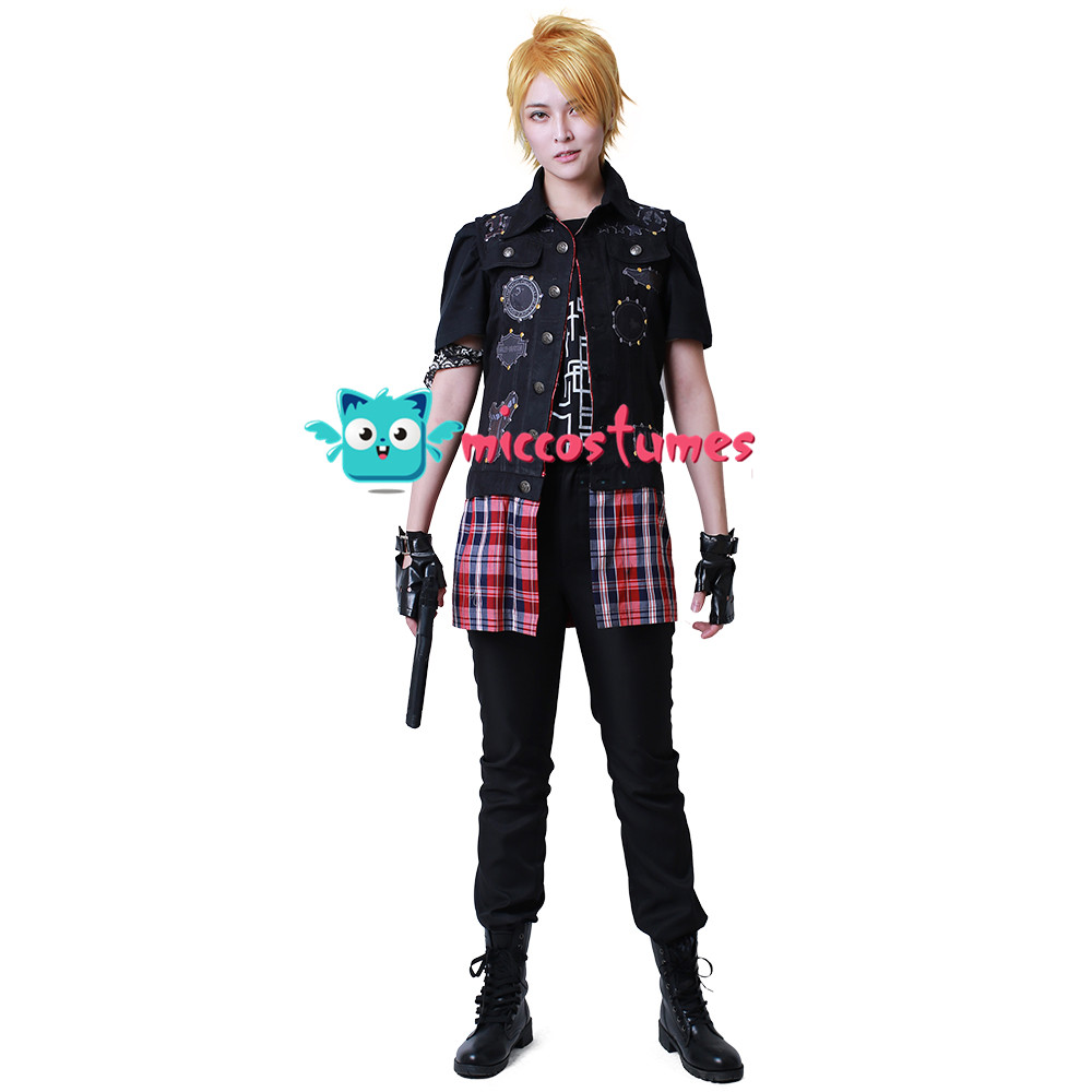 Final Fantasy XV Prompto Argentum Cosplay Costume Anime Men Clothes Jacket Vest