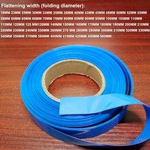 1 kg 30 MM de large bleu batterie au lithium PVC thermorétractable manchon batterie bricolage paquet de remplacement de la peau film isolant