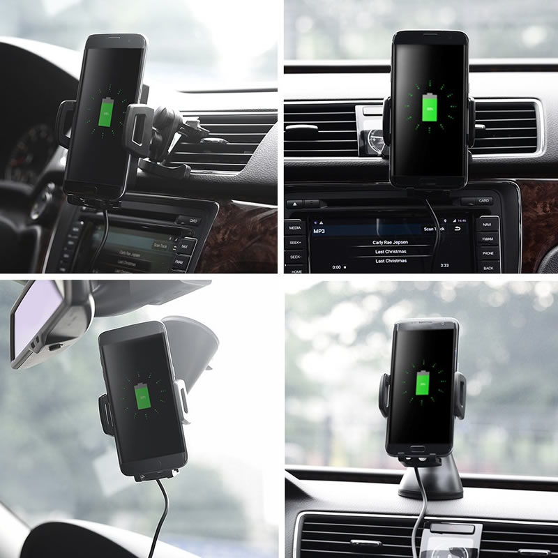 Fast Wireless Car Charger with 1 5m Charging Cable and wireless receiver for Samsung htc xiaomi
