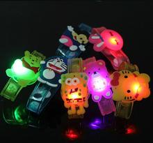 Cartoon light up toys creative luminous hand ring kids led toys novel light emitting bracelet glow