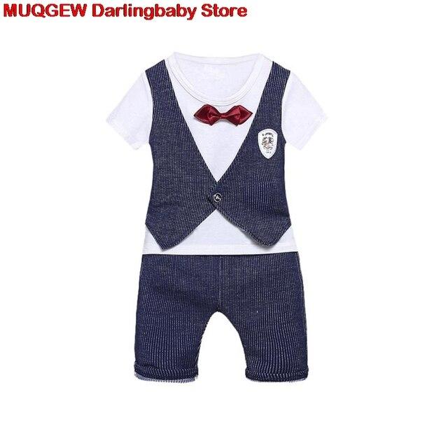 95750a2be Bebê Recém-nascido Roupa Dos Miúdos Formal Carta Imprimir Bow Tops + Calça Roupas  Roupas