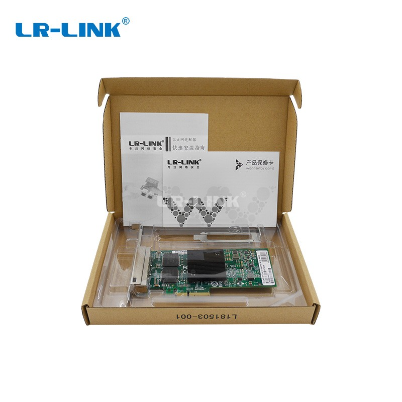 Image 5 - LR Link 9704HT Quad Port Gigabit Ethernet Lan Card 10/100/1000Mb PCI Express Network Card Intel 82580 I340 T4 E1G44HT Compatible-in Network Cards from Computer & Office