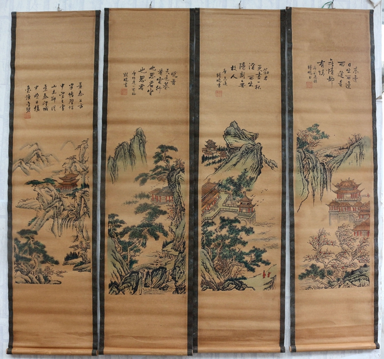 Dragon Old Collection Scroll Chinese Ink And Wash Painting