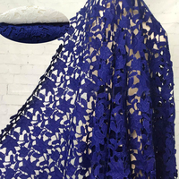 2yds Vintage African Lace Fabrics 2017 High Quality Cord Guipure Lace Fabric For Women Dress Nigerian