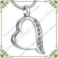 CMJ8221 plata del acero Inoxidable 316L joyería colgante para cenizas de cremación urna conmemorativa collar colgante para los animales