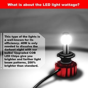 Image 2 - LSlight LED Headlight H7 H4 9005 9006 H11 HB2 HB3 HB4 LED Auto Bulb 6000K 9600LM 72W 12V 24V Car Light diode Ice Lamps luces