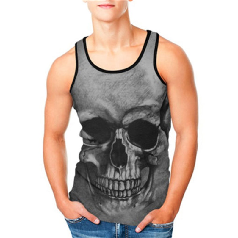 NEW Crop   Top   Cosplay Comic Pattern Women Men Camis Skull Print   Tank     Tops   Colorful Sleeveless Tee Vest Dropship