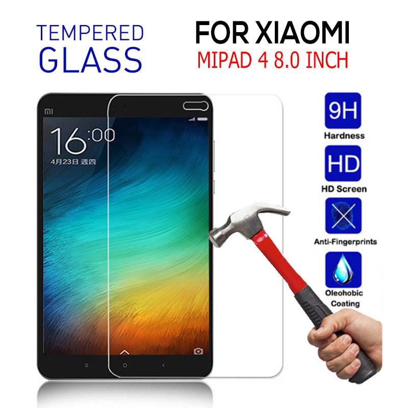 For Xiaomi Mipad 4 Tempered Glass 9H Hardness Ultra Clear Screen Protector For Xiaomi Mi Pad 4 Toughened Protective Film Fundas