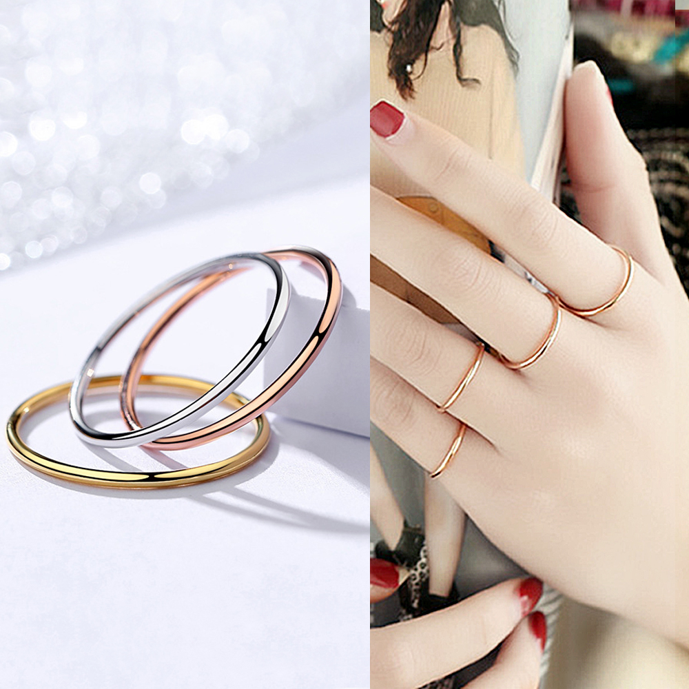 BALMORA 1 Piece 100% Real 925 Sterling Silver Stacking Rings for Women Lady Girl Midi Finger Knuckle Finger Toe Ring Jewelry image