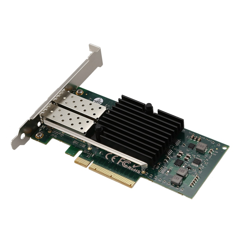 Network Card For Intel E10G42BTDA 82599ES Chip 10GbE Ethernet Converged Network Adapter,PCI-E X8 Dual SFP+ Port