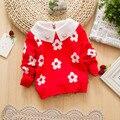 11.11 6M-3 Years Casuais Blusas De Natal Para As Meninas Girassol Infantis Meninas Blusas Crianças Blusas de Inverno Camisola Do Bebê Tricô