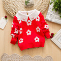 11.11 6M-3 Years Casual Christmas Sweaters For Girls Sunflower Infant Girls Sweaters Kids Winter Sweater Knitting Baby Sweaters
