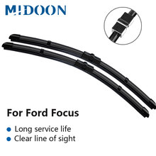 MIDOON Wiper Blades for Ford Focus Mk2 / Mk3 Fit Side Pin / Push Button Arms Model Year from 2004 to 2017 (International Model)(China)