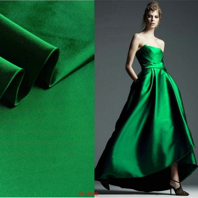 Green Heavy silk wool fabric wide width