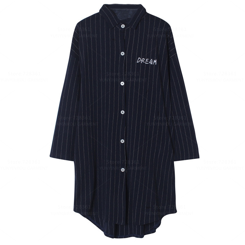 New Arrivals 100% Cotton   Nightgown   Women Nightdress Mujer Sleepwear Loose Casual   Nightgowns   Lady   Sleepshirts   Dress Home Clothing