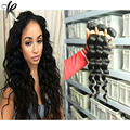 "Grade 7A Brazilian Loose Wave Virgin Hair Weave 4pcs Human Hair Extentions 1B Natural Black 6""-30"" Brazilian Loose Wave Weave"