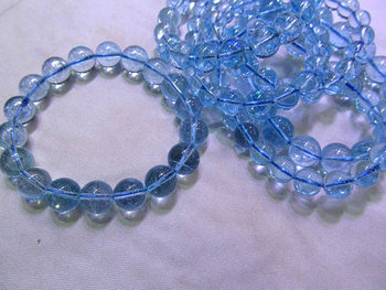 AA grade 6\7\8\9\10mm genuine TOPAZ DIY bead round ball blue trasparent barcelete jewelry beads