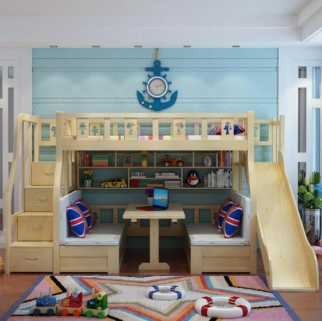 Webetop Moderne Enfants Lit Salon Lit Superposé En Bois Massif