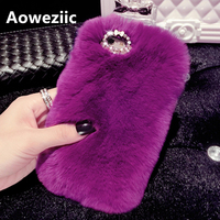 Rabbit Plush For Huawei P9 P10PLUS Phone Shell Rhinestones For IPhone 6s 7plus Soft Shell Jacket