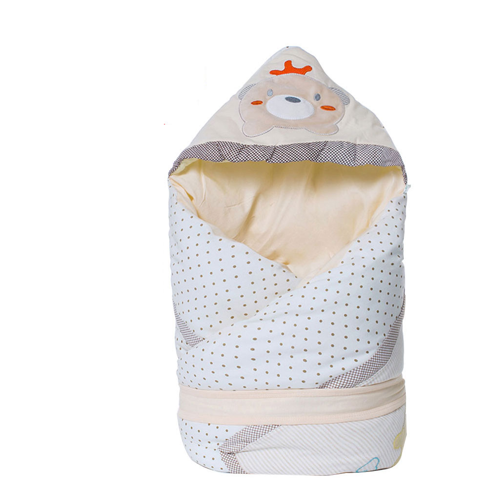 New 100x100cm Winter Baby Blanket Warm Swaddle Envelope Newborns + Baby Bibs Cotton Sleeping Bag Removable Blanket Soft Fabric new fashion double layer thick warm cotton winter adult blanket household universal blanket soft blankets sofa bed plane