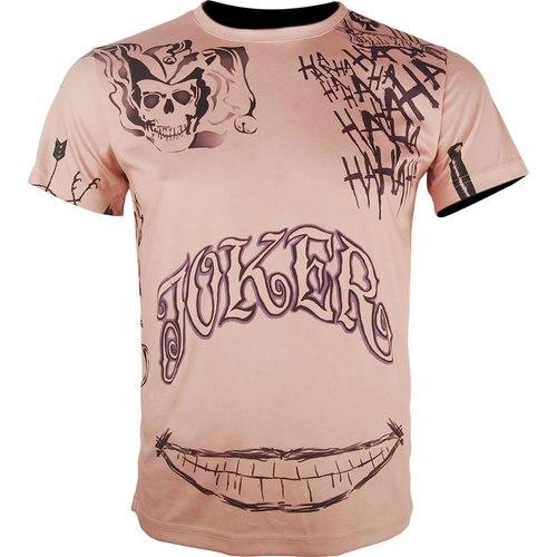 Suicide Squad Joker T-Shirt Jared Leto Men Halloween Coplay Costume