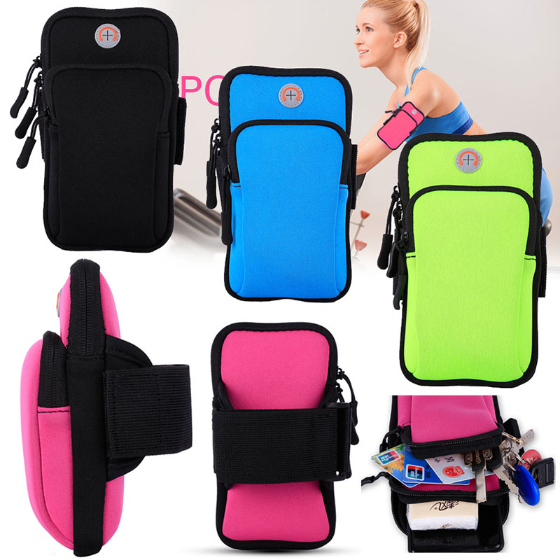 Universal Sport Armband Phone Bag Case for 4-6 inch Smartphones Running GYM Arm Band Belt Pouch Cover for iPhone Samsung Xiaomi
