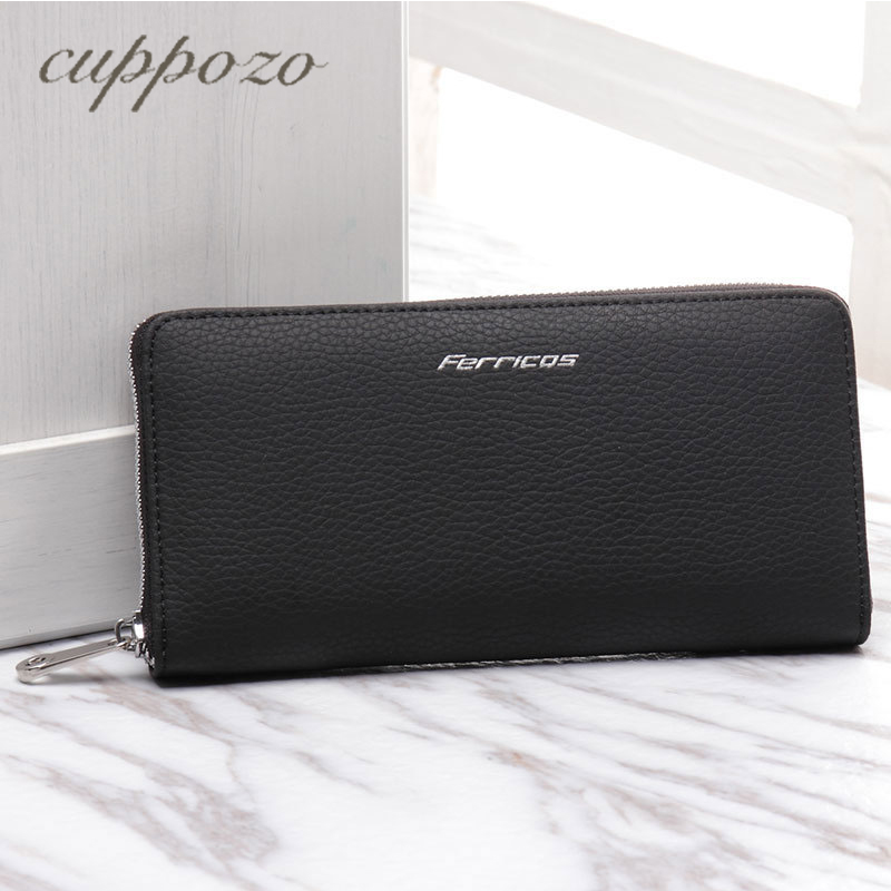 Cuppozo Business Multi-card Bit Men Hand Wallet Handbag High Capacity Fashion Leisure Leather Wallet Coin Purse Card Holder