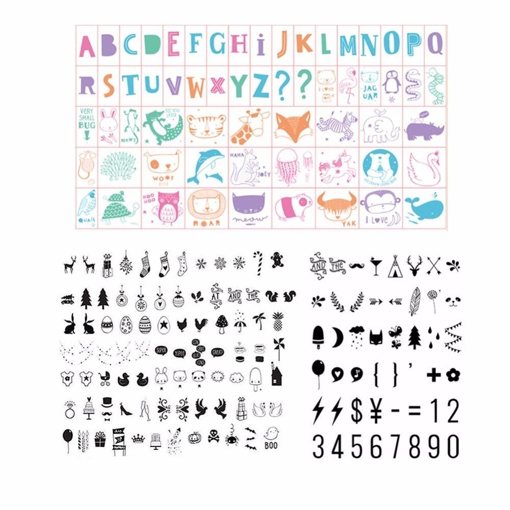 A4 Кино TIC свет вверх знак DIY наклейки Бесплатная Комбинации Правописание Цвет Emoji буквы Lightbox Кино освещение, декор дома