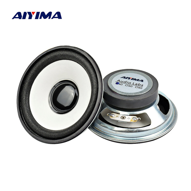 AIYIMA 2 piezas 3 pulgadas Mini Audio altavoces portátiles 4Ohm 10 W DIY para Multimedia Altavoz Bluettoth cine en casa sistema de sonido