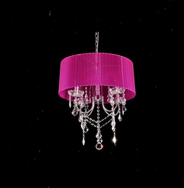 Осветительная лампа, подвесные светильники, светодиодная Хрустальная спальня, благородная Роскошная лампа, дымоход e14, лампа, стеклянная основа, светодиодная лампа, модный абажур XU - Цвет корпуса: purple