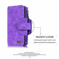 Genuine Leather Cell Phone Wallet Bag Cover Case For Apple IPhone 7 Plus 5SE 6S 6