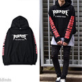 Winter New 2016 Justin Bieber Purpose The World Tour Hoodie Black Sweatshirts Long Sleeve Hip Hop Cool Man Woman Fashion Unisex