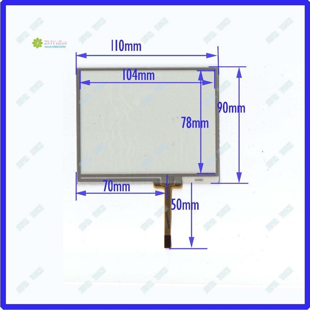 ZhiYuSun 050067 Новые 5 дюймов 4:3 4 линии для автомобиля DVD с сенсорным экраном Панель 110*90 сенсорный экран 110 мм* 90 мм совместим ли данный touchsensor
