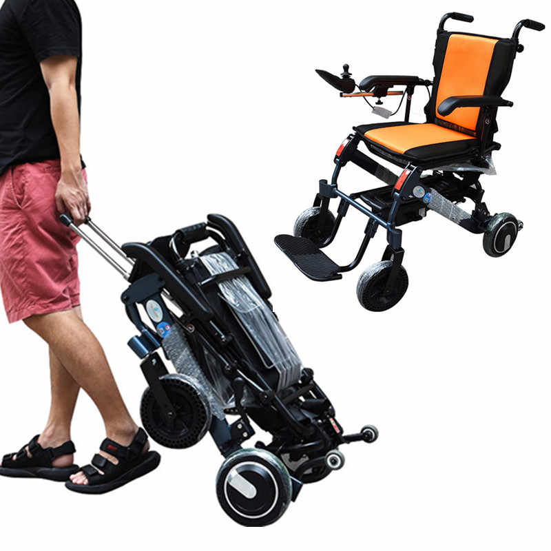 cheapest ultralight folding handicapped portable electric wheelchair for disable,elderly